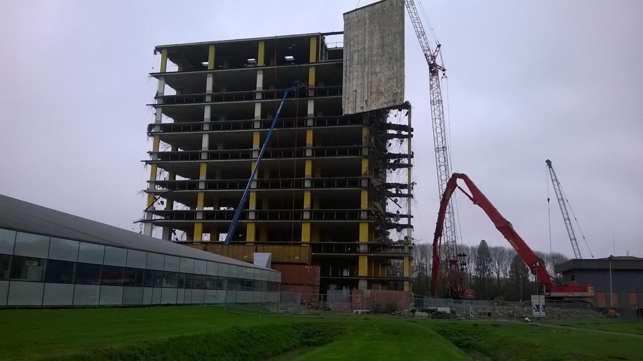Sloop betonskelet Wentgebouw